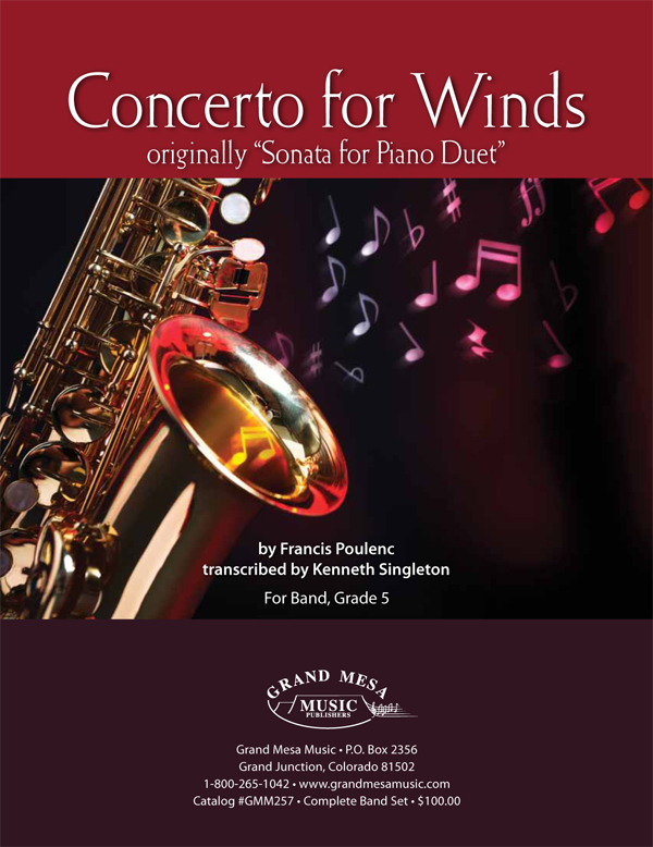 Concerto for Winds (Originally Sonata for Piano-4 Hands)